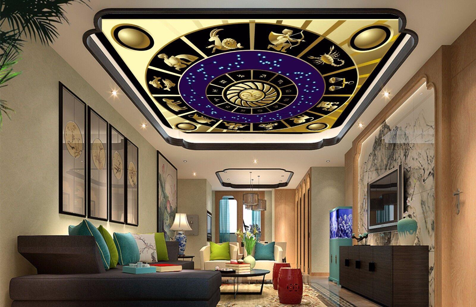 3D Astrology 665 Ceiling WallPaper Murals Wall Print Decal Deco AJ WALLPAPER UK