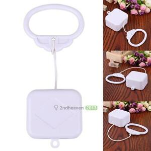Pull String Cord Music Box Baby Kids Bed Bell Rattle Toy Gift Play Songs White