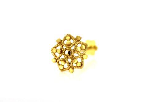 Hexagonal de Oro Amarillo 22ct 916 Tornillo para nariz grande NSS44