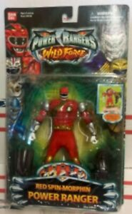 Power Ranger Force sauvage Red Spin Morphin '(tête pivotante) Par Bandai (moc)