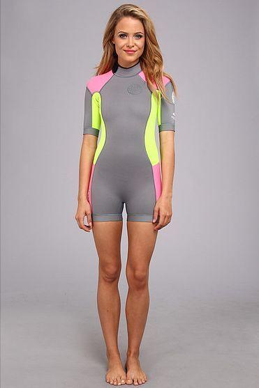 Rip Curl Dawn Patrol Women's 2mm S S Springsuit Shortie Short Sleeve Wetsuit