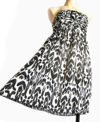 gris robe bustier d/'été plage UK taille 10-14 nouvelles Rainbow élastique noir