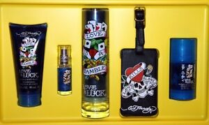 Ed-Hardy-MEN-039-S-Love-amp-Luck-3-4-oz-COLOGNE-DEODORANT-BODY-WASH-LUGGAGE-TAG
