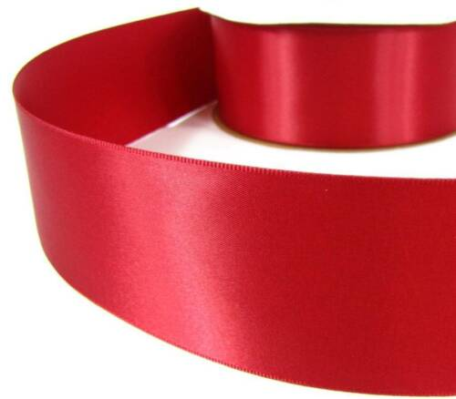 "5 Yds Scarlet Red Double Faced Satin Ribbon 2 1//4/""W"