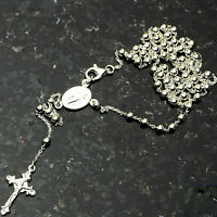 Silver Bead Rosary 3mm-18 .925 Sterling Silver Chain 18