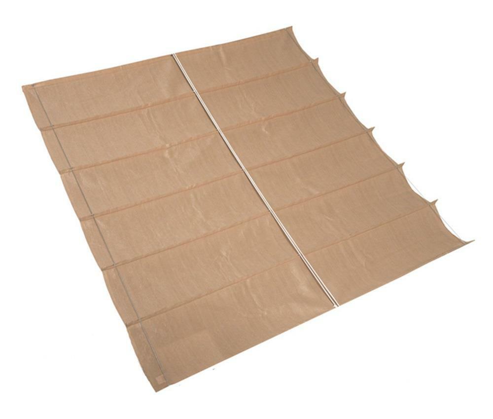 Nesling Coolfit Faltsonnensegel Sonnenschutz wasserdurchlässig 3,70 x3,70 m Sand
