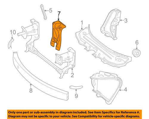 Mercedes MERCEDES-BENZ OEM R350 Radiator Core Support-Center Bracket 2516200000
