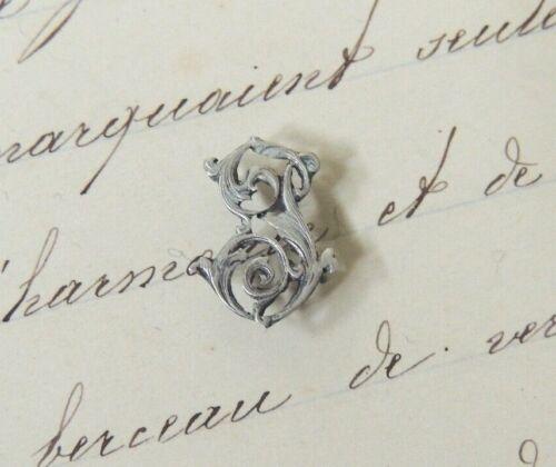 maroquinerie shabby initiale Superbe Monogramme en ARGENT massif Lettre J