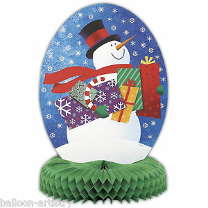 14-034-Christmas-Snowman-Honeycomb-Centrepiece-Table-Decoration