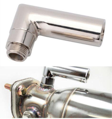 M18 x 1.5 Car Exhaust O2 Test Pipe 90 Degree Steel Oxygen Sensor Elbow Extender