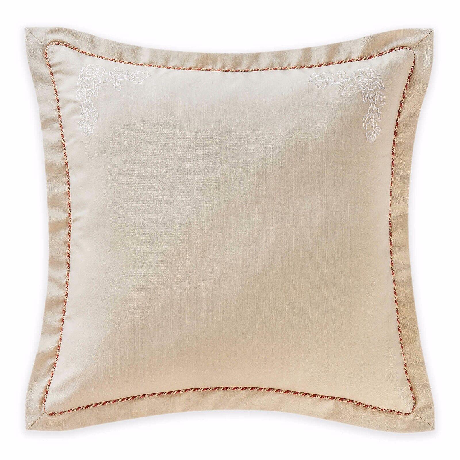 Waterford Linens Cathryn European Pillow Sham in Linen 26 X 26 New