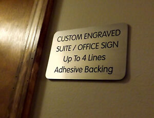 Custom Engraved Copper 4x6 Office Suite Sign | Small Business Wall Door Plaque