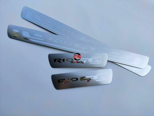 For Kia Rio GT-Line Accessories Stainless Steel Door Sill Protector Scuff Plate