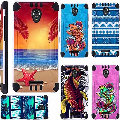 first rate f3761 0b942 For ZTE ZMax One LTE Z719DL Phone Case Brush Hybrid Cover Kombatguard A1 |  eBay