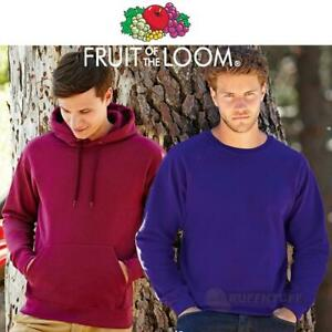 Fruit-of-the-Loom-Classic-Hooded-Sweatshirt-Hoodie-Plain-Top-Sweat-Jumper