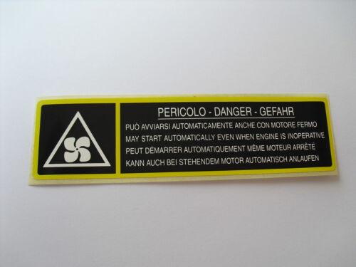 Lancia Delta Intégrales Compartiment Moteur Original Moteur Sticker//Autocollant//Adesivo