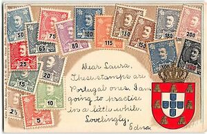 Stamp-Card-Postcard-Showing-Portugal-Postage-Stamps-108142
