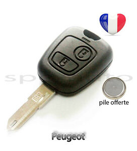 plip coque cl peugeot 106 206 206 206cc 306 107 207 307 2 boutons pile ebay. Black Bedroom Furniture Sets. Home Design Ideas