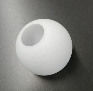 glas lampenschirm ersatzglas kugel wei lochma fassung 40mm glas 100mm 4004353142864 ebay. Black Bedroom Furniture Sets. Home Design Ideas