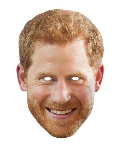 Masque en carton Meghan Markle Prince Harry Rubies Card Mask-Face Mask