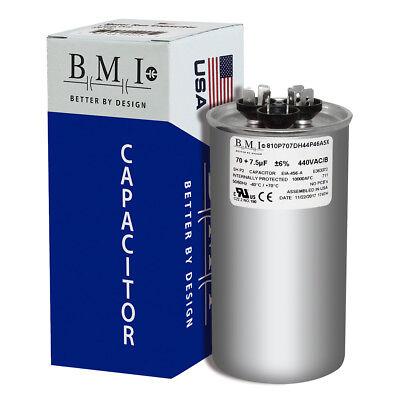 7.5 uF MFD x 370 440 VAC Motor Run Capacitor Replaces TRCFD7075 PRCFD7075 70
