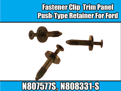 10 Ford 6mm car Plastic Trim Panel Retainer fasteners Clips 90G