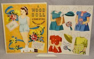 1947-BABS-TEKWOOD-PAPER-DOLL-3985-RARE-UNCUT-ORIGINAL