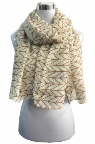 Women Lady Long Fashion Simple Parallel Pattern Shawl Scarf Scarves