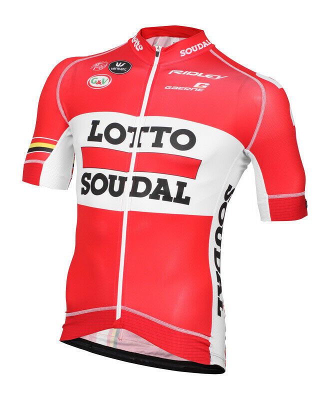 Team Lotto Soudal Ridley'15 PRO RESEARCH Jersey Manga Corta por RACE VERMARC