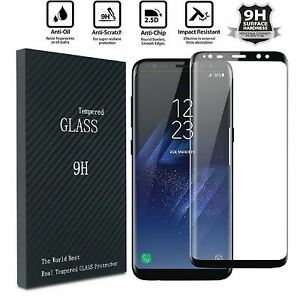 timeless design 1c881 fe1fd Details about 2x Samsung Galaxy S8 PLUS /Note 8 Screen Protector Tempered  Glass Curved Glass