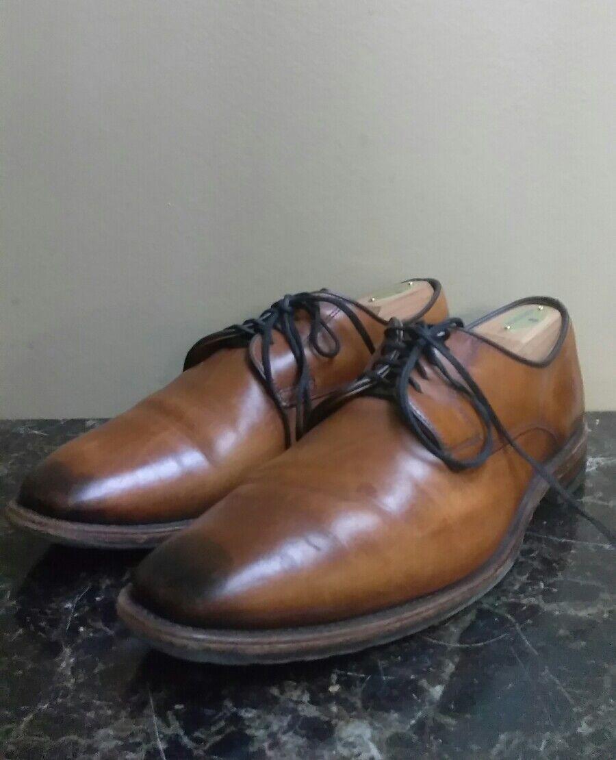 Mens Allen Allen Allen Edmonds Easton braun Saddle Leather Derby Oxford schuhe Sz 10 D 6d006a
