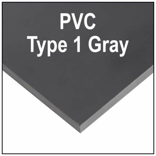 "1//4/"" 6mm Gray Polycarbonate PVC Type 1 Sheet 12x12/"" AZM Clearance"