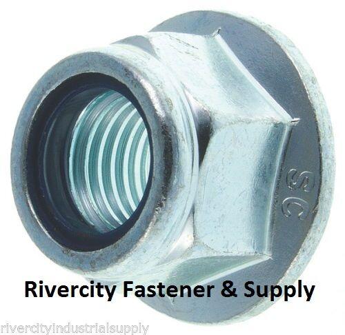 5 M16-2.0 or 16mm Metric Hex Flange Stop Lock Nut Nylon Insert DIN 6926