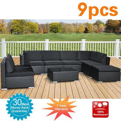 OLD Wicker Rattan Garden Set Indoor Outdoor Sofa Lounge couch Setting Furniture