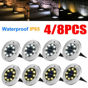 8-LED-Solar-Power-Buried-Light-Under-Ground-Outdoor-Garden-Pathway-Decking-Lamp