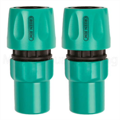 STOP THROUGH 2 X HOSE PIPE FEMALE CONNECTOR PLASTIC QUICK FIX CLICK ON WATER
