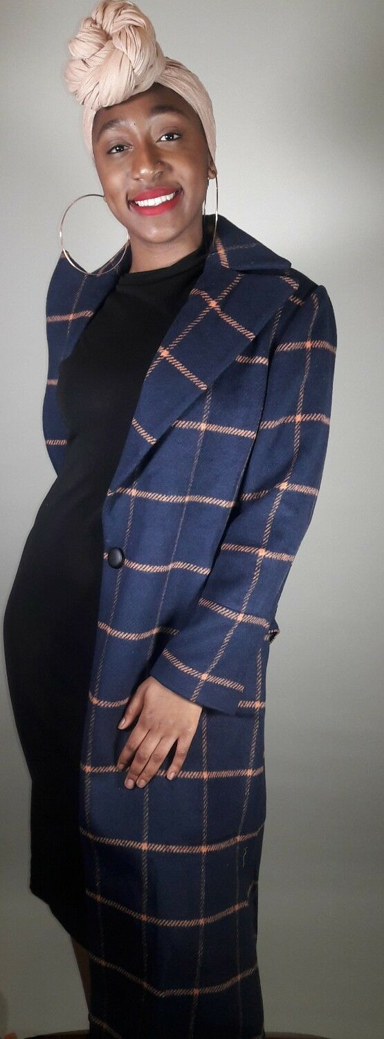 Jovonna London Chessboard Coat -U.S Size 6 Brand New With Tags