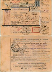 Czechoslovakia-1926-parcel-post-used-Kosice-to-Constantinople-d6998