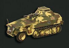EAGLEMOSS 1/43 WWII Sd.Kfz. 250/9 HANOMAG HALF TRACK DIECAST MODEL EM015