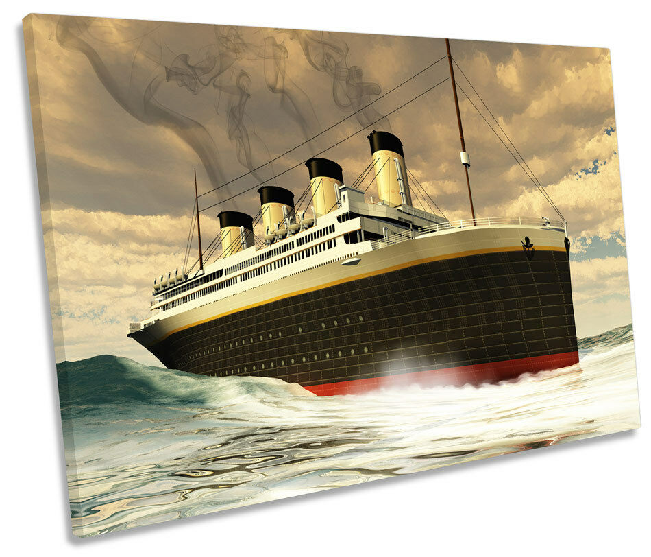 Titanic Ship SINGLE CANVAS WALL ART Box Framed