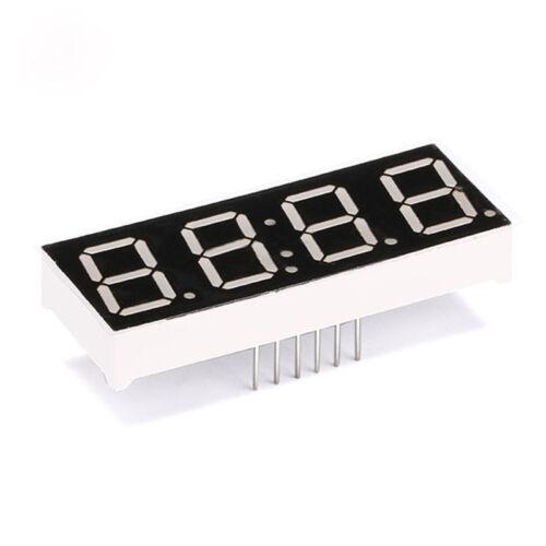 "0.8/"" inch LED Segment Displays Digital Tube Common Cathode//Anode 1//2//3//4 Bit Red"
