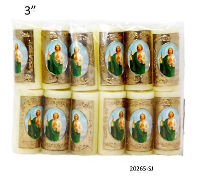 12 Pcs # 19059 MISANTUARIO 3 Cirio Pascual Paschal Candle Easter