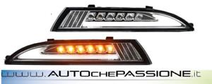 Coppia indicatori di direzione cromati a LED VW SCIROCCO 2008> posizioni diurne