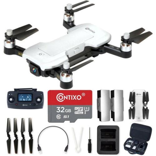 Kids /& Adults 32 GB micro SD FP Wi-Fi Contixo Drone with 4K UHD Camera /& GPS