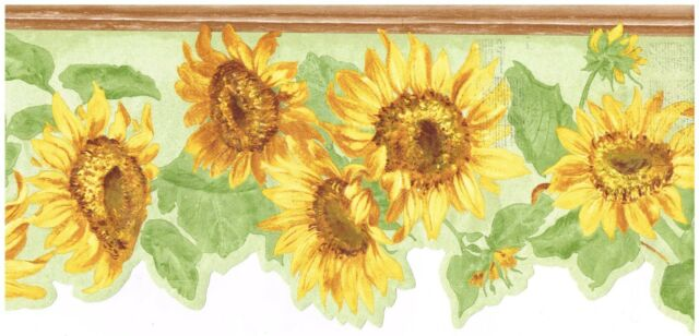 Diecut Brightly Colored Sunflower Light Green Back Country