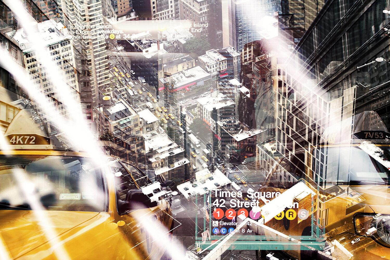 New York Collage Wandbild Fotoleinwand Poster Forex Alu Dibond Acrylglas Bild