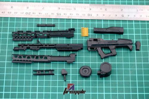 """Modello IN SCALA 1:6 ARMA assieme Avatar MITRAGLIATRICE 4D in plastica per 12/"""" Figura Giocattolo"""