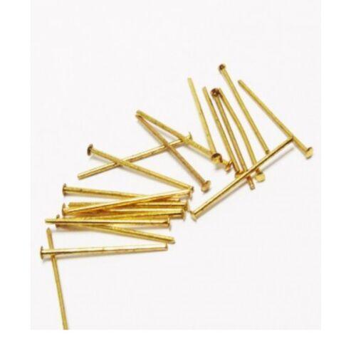 500 plumes KETTEL aiguille 30 mm nietstifte kopfstift À faire soi-même Métal Gold Best m310