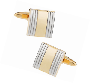 Chic Unisex Men/'s and Women/'s Silver Gold-Tone Cufflinks by Cuff-Daddy
