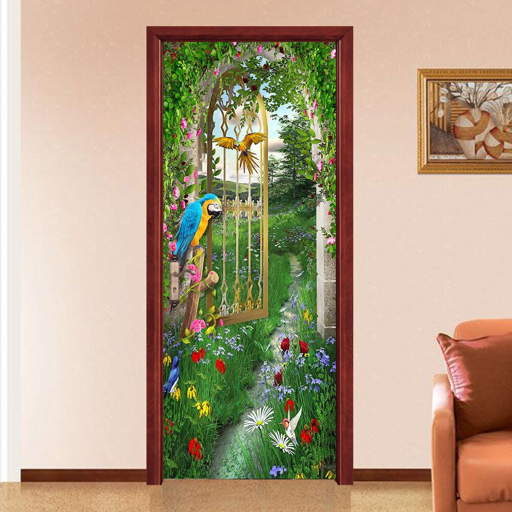 3D Papagei 70 Tür Wandmalerei Wandaufkleber Aufkleber AJ WALLPAPER DE Kyra